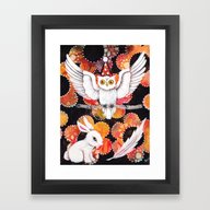 Framed Art Print featuring The Owl by Judy Skowron
