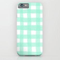 Gingham Mint Slim Case iPhone 6s