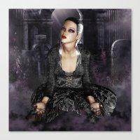 Don't I Bleed? - Gothic Bleeding Female Painting Canvas Print