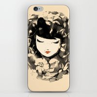 Ink Flower Girl iPhone & iPod Skin