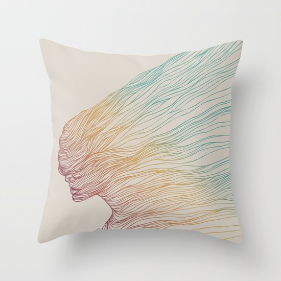 FADE Throw Pillow