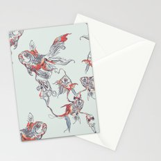 Floating in Deep Stationery Cards
