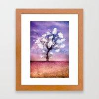 ATMOSPHERIC TREE - Pick me a cloud II Framed Art Print
