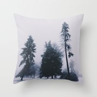 Alone In December Throw Pillow
