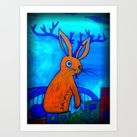 No Hope Jackalope Art Print