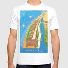 South Beach White SMALL Mens Fitted Tee