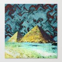 Psychedelic Pyramids Canvas Print