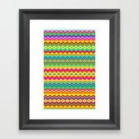 Aztec Summer Colors Beac… Framed Art Print