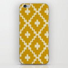 Navajo Diamonds Gold on Ivory iPhone & iPod Skin