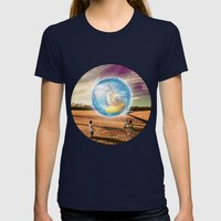 The Traveler Womens Fitted Tee Navy SMALL