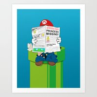 mario Art Prints featuring Mario by Altay