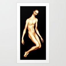 Fluid figure Art Print