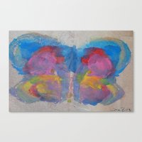 Pastel Ice Cream Butterfly Canvas Print