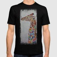Giraffe Mens Fitted Tee Black SMALL