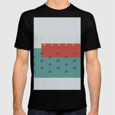 Overlap SMALL Black Mens Fitted Tee