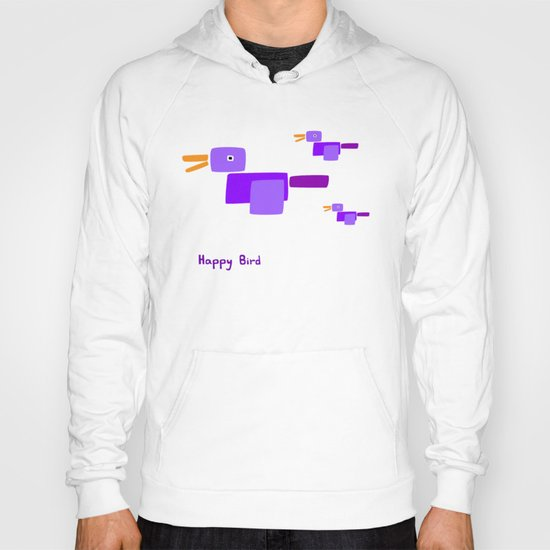 Happy Bird-Purple Hoody