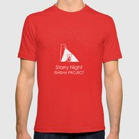 Starry Night By ISHISHA … Mens Fitted Tee Red SMALL