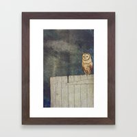 Whoo Goes There? Framed Art Print