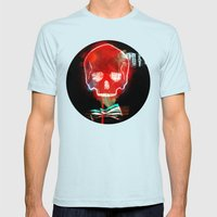 Cool_skull Mens Fitted Tee Light Blue SMALL