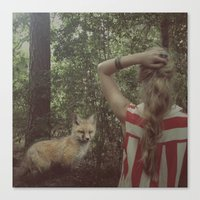 The Fox And The Girl. Canvas Print