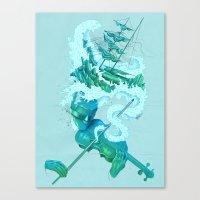 Shipwreck Sonata Canvas Print