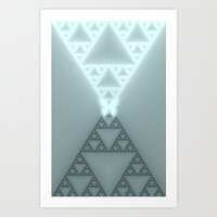 Triangles Glow Art Print