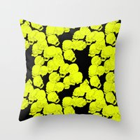 Neon Skulls Throw Pillow