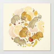 Canvas Print featuring Things Squirrels Probabl… by Teagan White