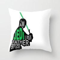 I Am A Jedi Throw Pillow
