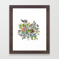 Floral White Framed Art Print