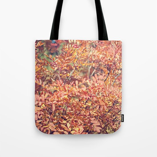 Red Fall Tote Bag