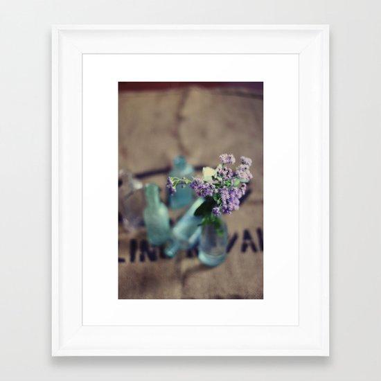 hold the universe Framed Art Print