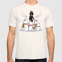 Woman Of Cats Mens Fitted Tee Natural SMALL