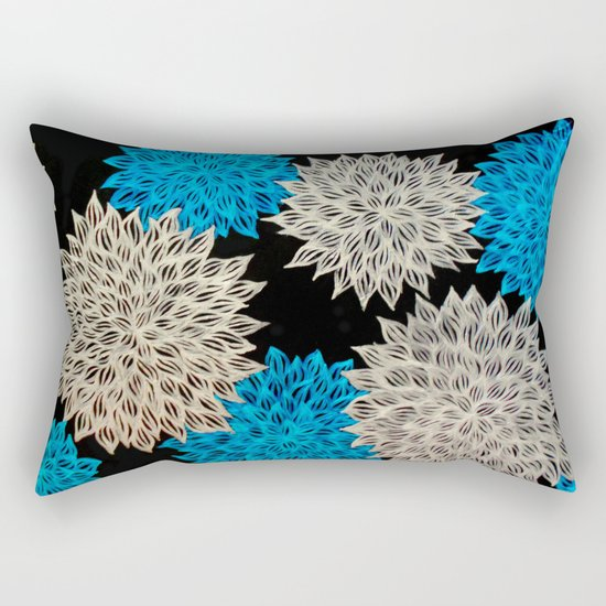 Bloom abstract acrylic painting rectangular throw pillow