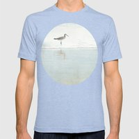 Reflecting Sandpiper Mens Fitted Tee Tri-Blue SMALL