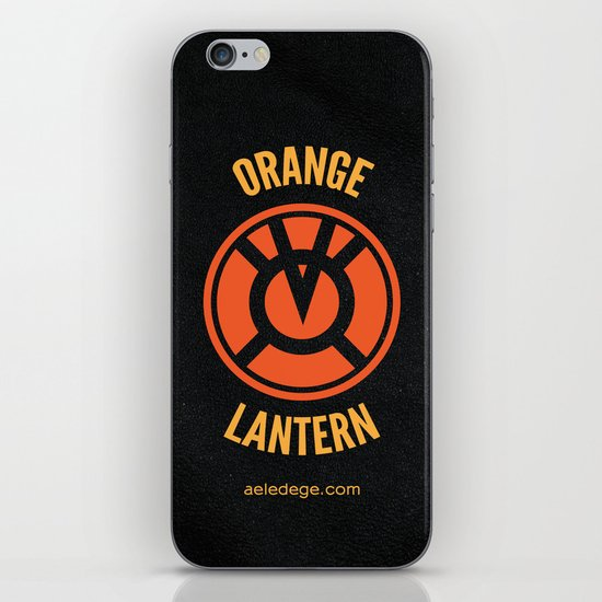 ORANGE LANTERN iPhone & iPod Skin