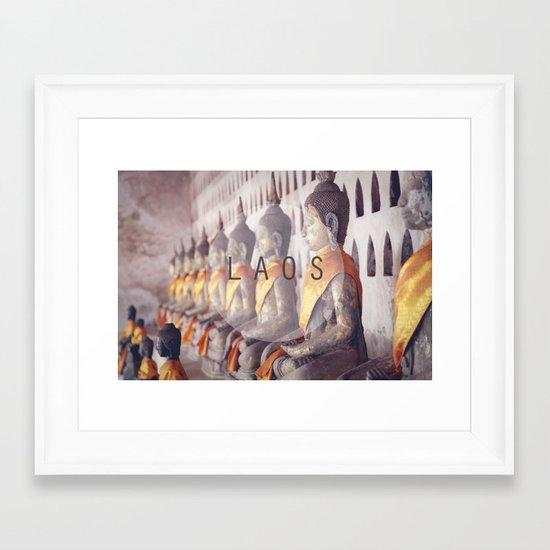 COUNTRY SERIES - LAOS Framed Art Print