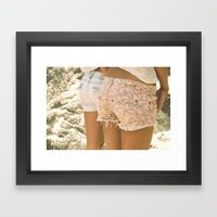 Chill Your Beach Booty Framed Art Print