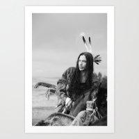 Lakota Warrior, Native A… Art Print