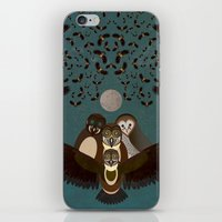 Owls In The Sky iPhone & iPod Skin