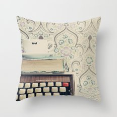 Type and Coffee Throw Pillow