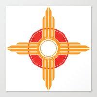 New Mexico Zia - Gold Canvas Print