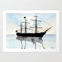 HMS Victory Watercolour Art Print