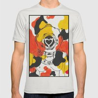 Koi Mens Fitted Tee Silver SMALL