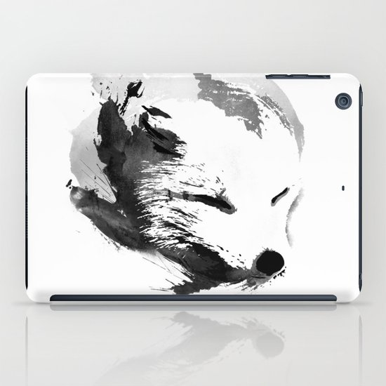 White Fox iPad Case