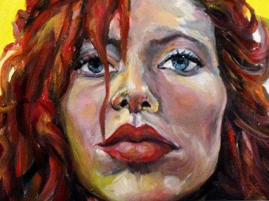 Exaggerated self portrait! Art Print