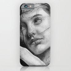 Angelina Jolie Traditional Portrait Print iPhone 6s Slim Case