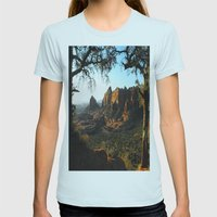 On a clear day Womens Fitted Tee Light Blue SMALL