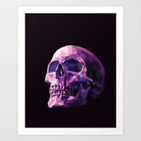 skull Art Prints featuring Skull by Roland Banrevi