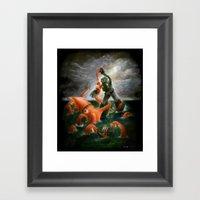 Sea Battle Masterpiece R… Framed Art Print